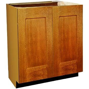 Shaker Door Style Vanity Sink Base With Full Height Doors 36 Wide 18 Deep 30 High In A Maple
