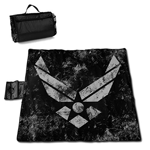 Outdoor Camping Blanket Waterproof Lightweight Washable Picnic Mat Beach Blanket for Hiking Festival Park Party Lawn 57¡±x59¡± U.S. Air Force Sign Badge -