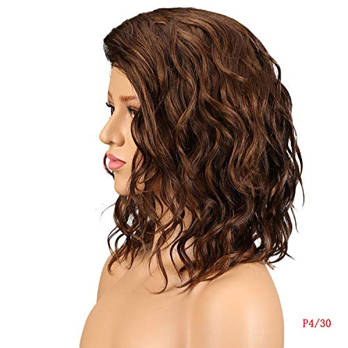- Cherryi Lace Wigs Humans For Black Women Part Lace Bob Wig Nature Wave Remy Ombre Curly Human,P4-30
