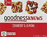 goodnessKNOWS Cranberry and Almond Multipack Snack, 102 g