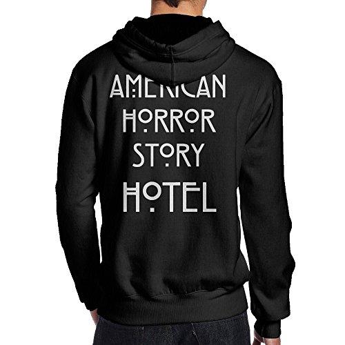 Netflix Show Costumes (SBPZEB American Horror Story Hotel Jersey Men's Hooded Sweatshirt XXL Black)