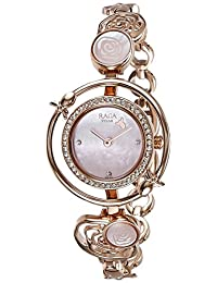 Titan Women's 'Raga Aurora' Quartz Stainless Steel and Brass Casual Watch, Color:Rose Gold-Toned (Model: 95047WM01)