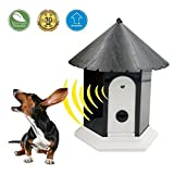 Ultrasonic Outdoor Anti Barking Deterrent - Bird House Shaped Sonic Bark Controller by HappyHapi, Small Size, Household Training Tool, No Harm To Pets, Plant, Human