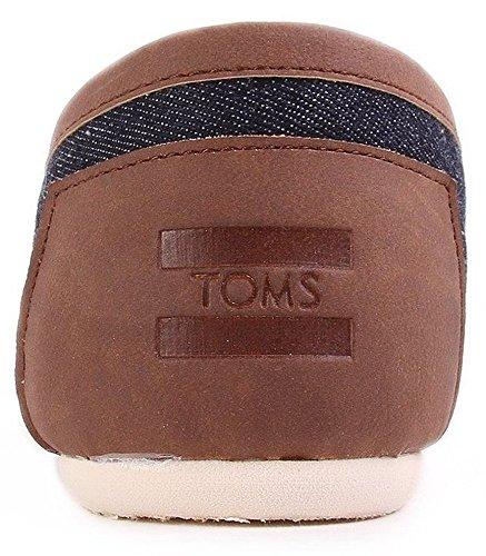 Toms Classic Denim Marrone Uomo Canvas Espadrillas Scarpe Slipons