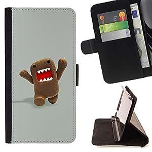 Momo Phone Case / Flip Funda de Cuero Case Cover - Carácter Dientes Meme Internet - Samsung Galaxy S6 EDGE
