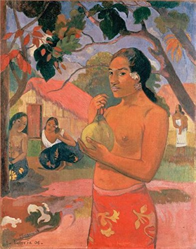 canvas-prints-of-oil-painting-woman-with-mango-1893-30-x-38-inch-76-x-97-cm-high-quality-polyster-ca