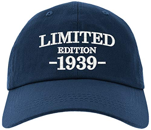 Cap 1939-80th Birthday Gifts, Limited Edition 1939 All Original Parts Baseball Hat 1939-EM-0001-Navy
