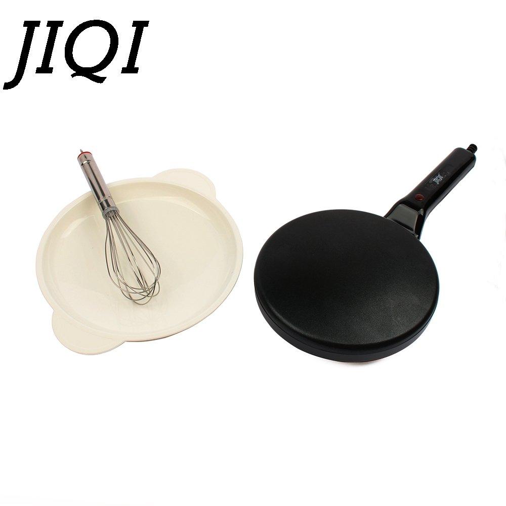 JIQI Electric Crepe Maker Pizza Machine Pancake Machine baking pan Cake machine Non-stick Griddle kitchen cooking tools 900w EU