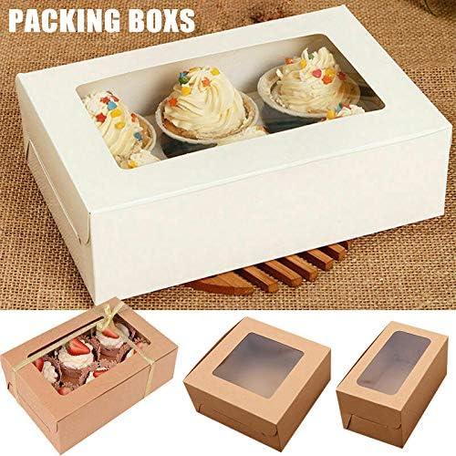 FZAY - Caja para tartas, 10 paquetes de cajas de papel kraft para ...