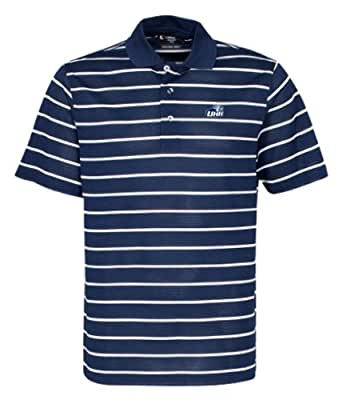 NCAA Men's New Hampshire Wildcats Feed Stripe Polo (Classic Navy/White, X-Small)
