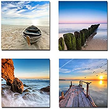 4bbb662248a Wieco Art Seaview Modern Seascape Giclee Canvas Prints Artwork Contemporary  Landscape Sea Beach Pictures to Photo Paintings on Canvas Wall Art for Home  ...