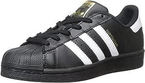 Adidas ORIGINALS Superstar I Basketball Fashion Sneaker (Infant/Toddler),Black/White/Black,7 M US Toddler
