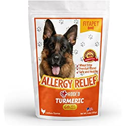 Fitapet Allergy Relief for Itchy Dogs – With Turmeric, Omega-3, Quercetin and Bromelain - 60 Soft Chews
