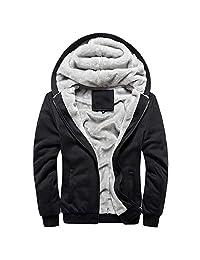 SWPS Men's Hoodies, Male Hoodie Winter Warm Fleece Zipper Sweater Jacket Outwear Coat Tops Blouses