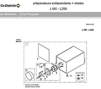 De Dietrich bh74 – Recipiente de agua caliente sanitaria completo L 250 – 250 litros