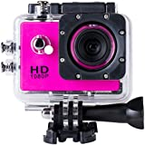 SJ4000 Full HD 1080P Camera 12MP 30M Waterproof Sports Action Camera DV CAR DVR Support SD To 32GB (Pink)