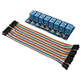 JBtek DC 5V 8 Channel Relay Module & 40 Pin Female-Female Dupont Cable for Arduino Raspberry Pi DSP AVR PIC ARM