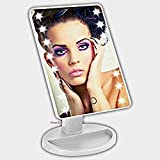 Cheap PrimePac- Best Price Free Standing Makeup Mirror with LED Lights. This Cosmetic Mirror is a must have for your Vanity, Bathroom, Desktop, Table. Great Lighted Travel Mirror, Compact and Illuminating.