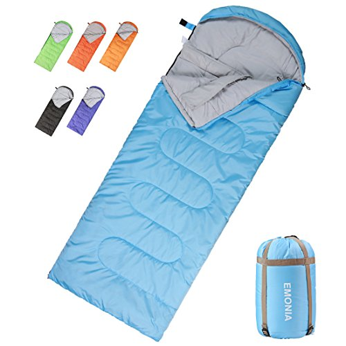 (Emonia Camping Sleeping Bag,Three season.Waterproof Outdoor Hiking Backpacking Sleeping Bag Perfect for 20 Degree Traveling,Lightweight Portable Envelope Sleeping Bags for Adults,Girls and Boys)