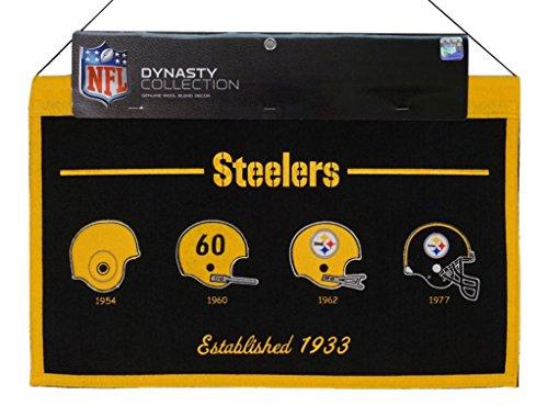 (Winning Streak Pittsburgh Steelers NFL 1954,1960,1962,1977 Large 22x14 Wall Hanging Logo Banner)