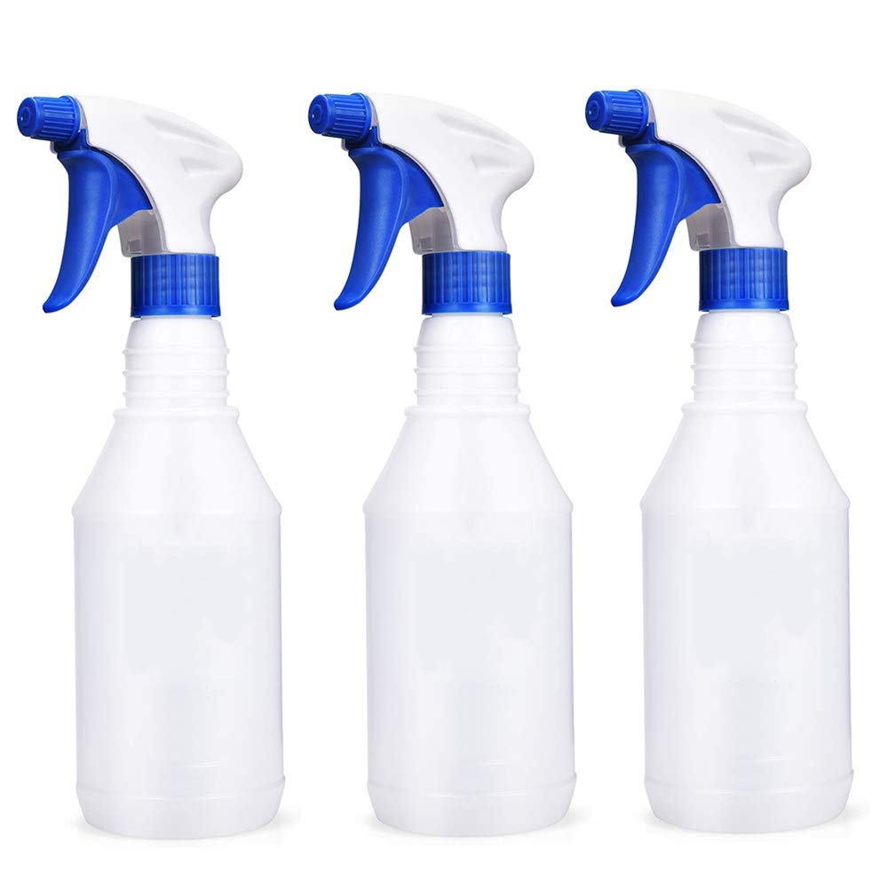Plastic Spray Bottles 16 oz Leak Proof Water Fine Mist Sprayer Empty Bottle for Cleaning Solutions Auto Detailing Plants Bathroom and Kitchen 2 Pack