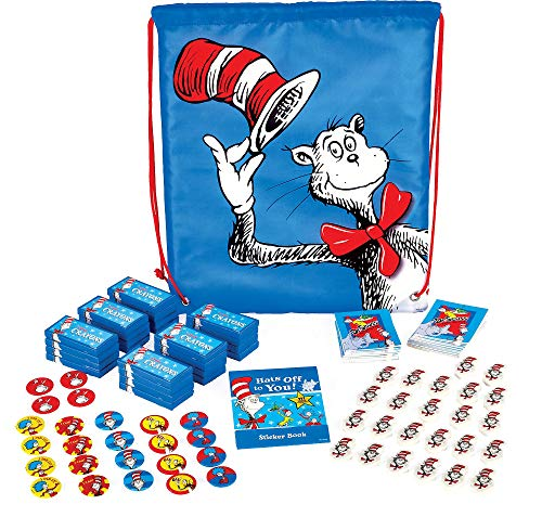 Amscan Dr. Seuss Cat in the Hat Drawstring Backpack 12 1/2 x 14 Inches -