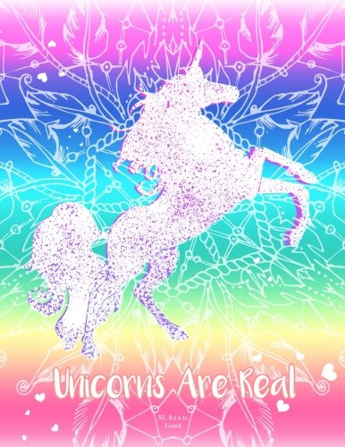 Rainbow Unicorn Notebook (Journal, Diary). Unicorns Are Real: XL 8.5 x 11 Lined (Journals To Write In) 3