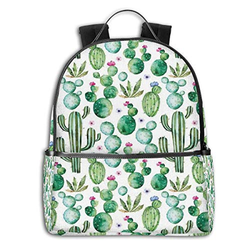 - College Backpacks for Women Girls,Mexican Texas Cactus Plants Spikes Cartoon Like Artistic Theme Picture,Casual Hiking Travel Daypack
