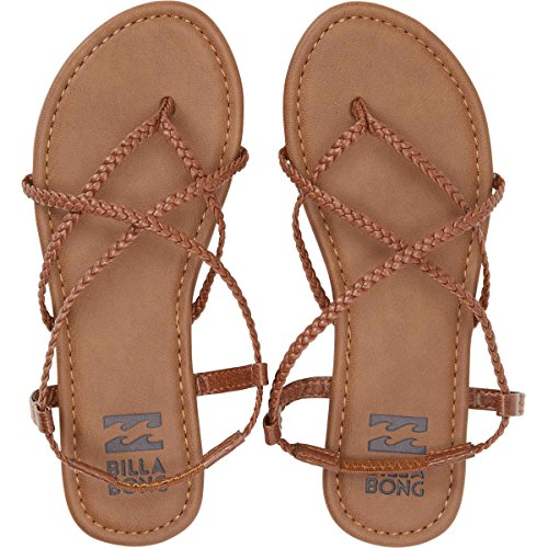 Billabong Women's Crossing Over Flat Sandal, Desert Brown, 9 M US