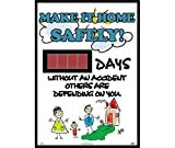 National Marker DSB52 Make It Home Safely Digital Scoreboard