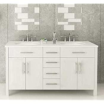 white vanity double sink. 72  White Double Sink Bathroom Vanity Isabella Amazon com