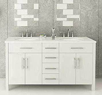 72u0026quot; White Double Sink Bathroom Vanity  U0026quot;Isabellau0026quot;