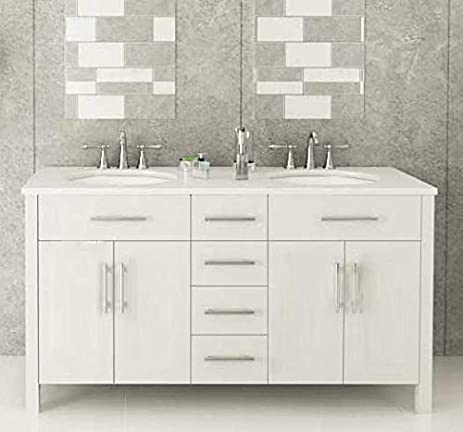 72u0026quot; White Double Sink Bathroom Vanity  U0026quot;Isabellau0026quot;