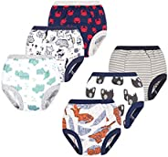 BIG ELEPHANT Baby Boys' Toddler Potty 6 Pack Padded Soft Pure Cotton Pee Training Pants Waterproof Under