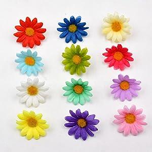 100pcs Artificial Flower Small Silk Sunflower Handmade Head Wedding Decoration DIY Wreath Gift Box Scrapbooking Craft Fake Flowe 2
