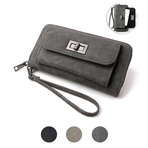LeatherWomen's Wallet Credit Card Phone Holder Durable Long Ladies Luxury ElegantWallet for Women by Denvosi