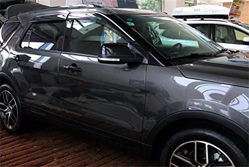 Car Shield Prices >> Vesul Updated Side Window Visor Vent Rain Guard Wind Deflectors Shield Sun Shade Smoke Gray ...