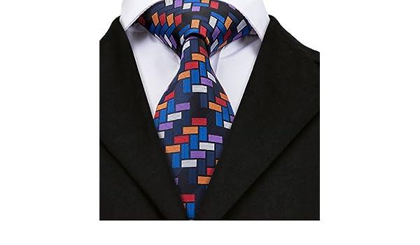 HYCZJH Lazos de Tela Escocesa para los Hombres Camisa Corbata ...
