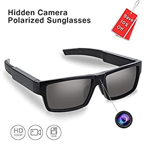 ENKLOV HD 1080P Polarized Sunglasses with Mini Camera,Video Record+Loop Recording+Free 16GB Micro SD Card+Free Sunglass Case,A Perfect Gift