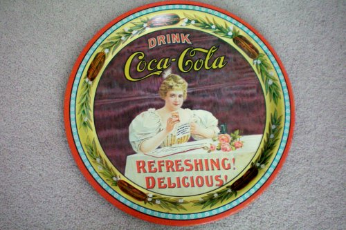 - Collectible--Coca Cola 75th Anniversary Round Tray Numbered