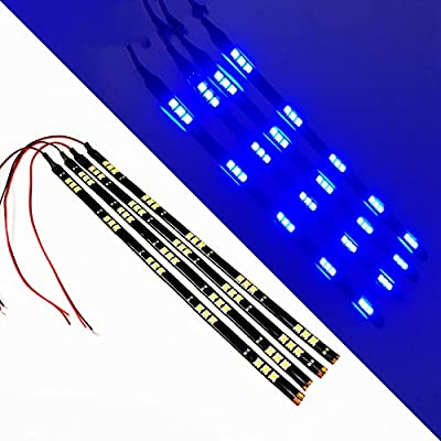 """SOCAL-LED 30cm 12"""" Flexible LED Strips High Power 5050 15 SMD Car DRL Under Dash Accent Light (Pack of 4)"""