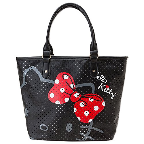 [Hello Kitty] Perforated leather tote - Stage Perforated Leather