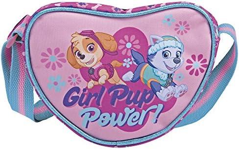Paw Patrol Schoudertas Hartvormig voor Kleine MeisjesRoze Handtas voor Kinderen 3 4 5 Jaar met Pup Skye en EverestBloemen Disney Messenger Tas Kleuterschool en Vrije Tijd18x14x6 cmPerletti