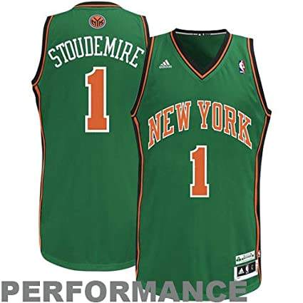 73c1e901f Image Unavailable. Image not available for. Color  Adidas New York Knicks  Amar e Stoudemire St Patricks Swingman Jersey Small