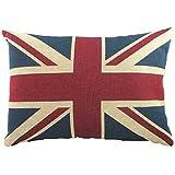 """gefüllt Evans Lichfield Union Jack Chenille Flagge hergestellt im GB Kissen 17 """" X13 """" - 43x33cm"""