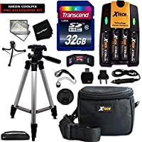 Ultimate Accessory Kit for Nikon Coolpix L840, L830, L820, L810, L620, L610, L330, L320, L310, L30, L28, L26, L120, L110, L105, L100 Digital Cameras Includes 4 AA High Capacity 3100mAh Rechargeable Batteries with Quick AC/DC Charger + 32GB High Speed Memory Card + Universal Card Reader + Water Resistant Padded Case + Full Size Pro 60 Inch Tripod + Mini Table Tripod + Memory Case Holder + Screen Protectors + Deluxe Cleaning Kit + Ultra Fine HeroFiber Cleaning Cloth