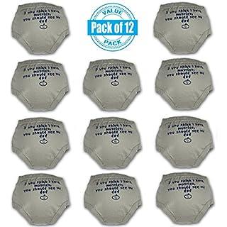 BUMZ WRAP Little Girls Boys 12-Pack Toddler Training Underwear/Diaper Covers (12 pk - Gray)