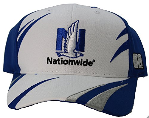 (Checkered Flag NASCAR Trackside Jagged Style Adult Logo Hat Cap (Dale Earnhardt Jr.))