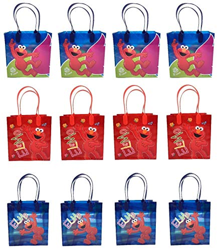 (30pcs Birthday Goody Gift Loot Favor Bags Party Supplies (Elmo Love His)