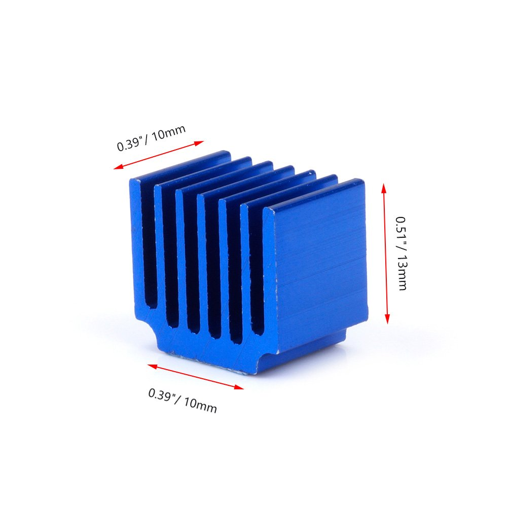 Thermal Conductive Adhesive Tape 22pcs 3D Printer Heatsink Kit Cooler Heat Sink Cooling TMC2130 TMC2100 A4988 DRV8825 TMC2208 Stepper Motor Driver Module